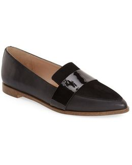 Ashah Pointed-Toe Leather Flats