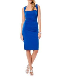 Twist Back Jersey Body-con Dress