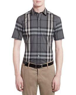 'nelson' Trim Fit Short Sleeve Sport Shirt