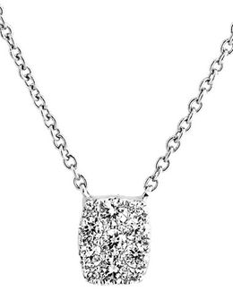 'mika' Mini Rectangle Pave Diamond Pendant Necklace (nordstrom Exclusive)
