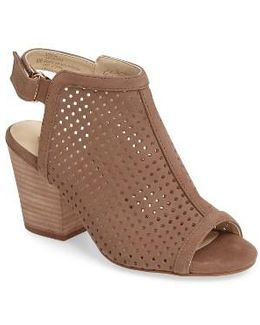 'lora' Perforated Open-toe Bootie Sandal