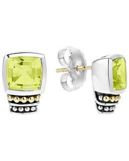 'caviar Color' Semiprecious Stone Stud Earrings