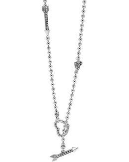'beloved' Heart & Arrow Link Necklace