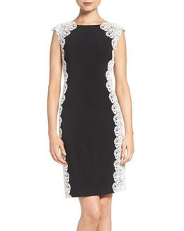 Lace & Knit Sheath Dress