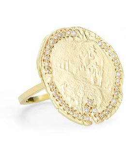 'v' Diamond & Vermeil Statement Ring