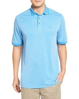 'ocean View' Short Sleeve Jacquard Polo