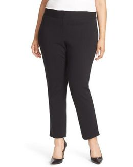 Front Zip Slim Ankle Pants