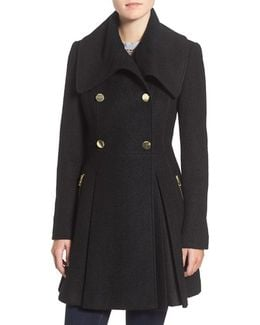 Envelope Collar Double Breasted Coat