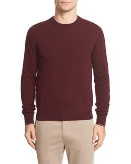 Tipped Wool Pullover