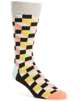 Geometric Cotton Blend Socks