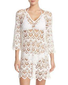 Crochet Cotton Mini Dress