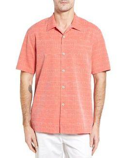 Original Fit Jacquard Silk Camp Shirt