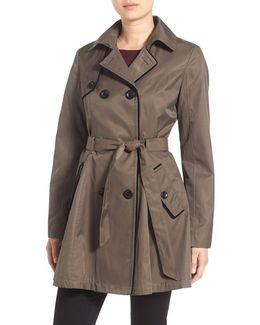 Corset Back Trench Coat