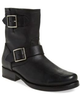 Vicky Engineer Leather Boots