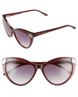 57mm Cat Eye Sunglasses - Purple