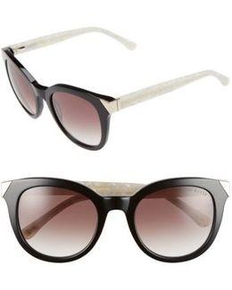 52mm Metal Accent Sunglasses