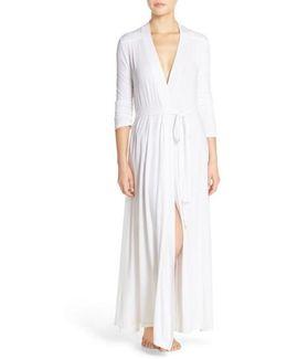 Barefoot Dreams 'luxe Milk' Long Jersey Robe
