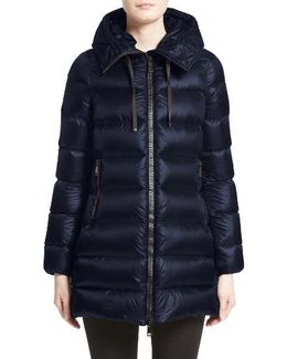 'suyen' Water Resistant Hooded Down Puffer Coat