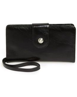 'danette' Glazed Leather Continental Wallet