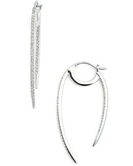 'crescent' Linear Hoop Earrings