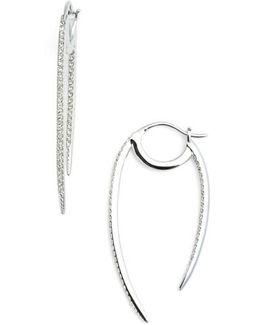 'crescent' Linear Hoop Earrings
