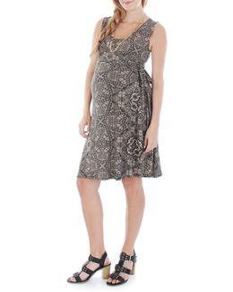 'tania' Sleeveless Maternity/nursing Wrap Dress