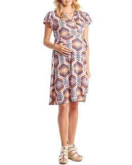 'kathy' Maternity/nursing Wrap Dress