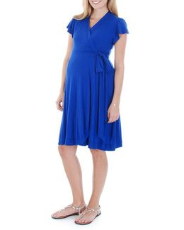 Kathy Maternity Jersey Wrap Dress