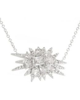 'explosion' Cubic Zirconia Pendant Necklace