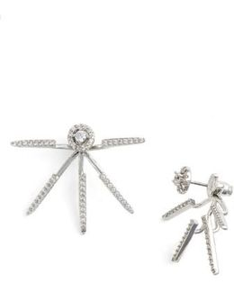 Pave Cubic Zirconia Ear Jackets