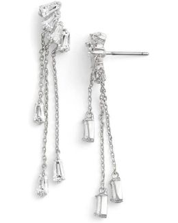 Baguette Fringe Cubic Zirconia Drop Earrings