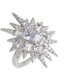 'explosion' Cubic Zirconia Cocktail Ring