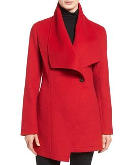 Double Face Drape Collar Coat