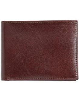 Slimfold Leather Wallet - Burgundy
