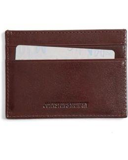 Leather Card Case - Burgundy