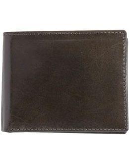Flip Billfold Leather Wallet