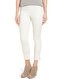 Slim Stretch Cotton Crop Pants