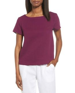 Organic Cotton Bateau Neck Top