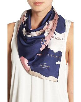 'going Places' Silk Scarf
