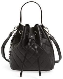 Mocscino Mini 'Letters' Quilted Bucket Bag