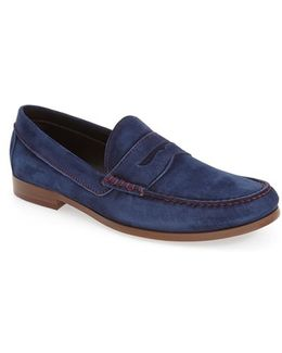 Nicola Suede Penny Loafers