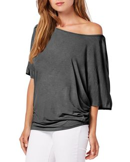 Boatneck Dolman Sleeve Jersey Top
