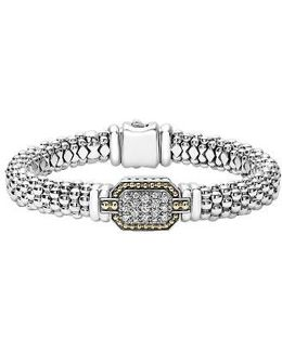 Diamonds & Caviar Large Diamond Bracelet