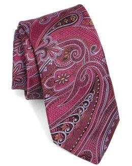 Floral Paisley Silk Tie