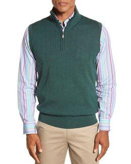 Quarter Zip Wool Sweater Vest