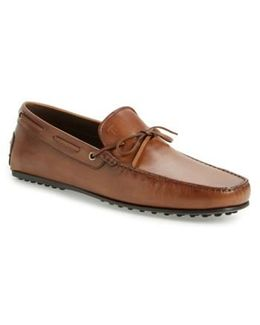 'city Gommini' Tie Front Driving Moccasin