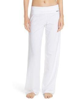 Wide Leg Stretch Cotton Pajama Pants