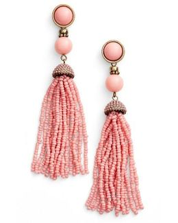 'artemis' Beaded Tassel Drop Earrings