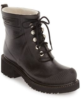 Waterproof Lace-up Short Snow/rain Boot