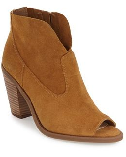 Open Toe Zip Bootie